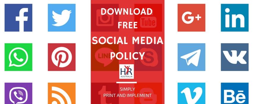 free social media policy